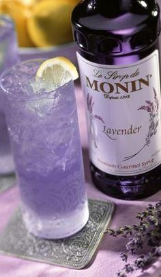 Monin Gourmet Flavorings : Monin Lavender Syrup Need this for my Lavender Vodka! Lavender Syrup, Lavender Lemonade, Lavender Tea, Lavender Blossoms, Lavender Cottage, Provence Lavender, Lavender Fields, Fun Drinks, Yummy Drinks