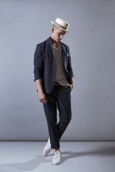 Look Eduardo Rivera con americana y pantalón de lino azul. #fashionmen #menswear #cute #stylish