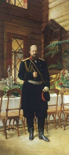 The Romanovs in art. Nikolay Dmitriev-Orenburgsky. Portrait of Emperor Alexander…Nikolay father