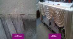 We can clean all kind of curtains and drapes in fabrics ranging. We 100% guarantee that colors will not run or fade and that your curtains will not reduce in size.