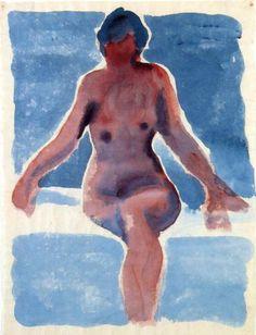 Georgia O'Keeffe watercolor painting