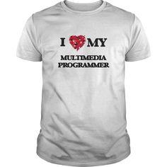(Tshirt Deal Today) I love my Multimedia Programmer [Tshirt Sunfrog] Hoodies, Tee Shirts