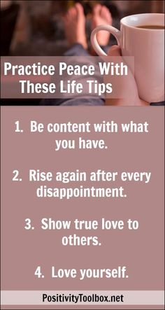 Practice Peace With These Life Tips http://positivitytoolbox.net/practice-peace-with-these-life-tips.html