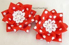 Handmade Kanzashi women ladies girls hair clips bows, buy in UK, shipping…