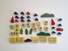 Vintage city block set by feathermar on Etsy, $45.00