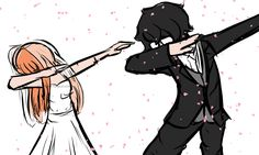 The day these two get married, their wedding photo is them dabbing because Futaba insisted.