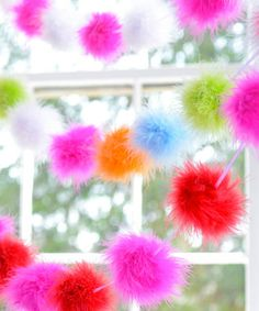 Take a look at this Pink & Red Maribou Puff Garland Set by Glitterville on #zulily today!