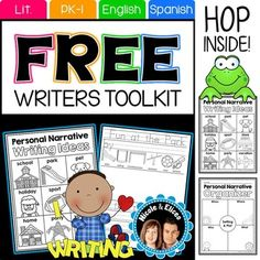 Writers Workshop: Free!We're giving away this sampler for free for you to try out some of our writers toolkit resources with your students. PRODUCT LANGUAGE(S)English + FREE Spanish versionINCLUDED RESOURCESWriting idea chartGraphic OrganizerWriting ChecklistWriting StationarySUGGESTED USEYou can use these writing resources with the whole class, in small groups, or for individualized instruction.