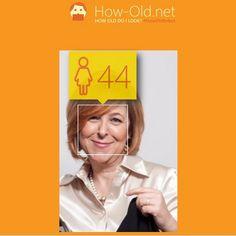 Iyi hissettiren, 10 yil genc gorundugunuzu soyleyen harika #app  Makyajsiz halim bile oldugumdan 5-6 yas genc yaziyor... Deneyin moraliniz duzelsin:))) HOW-Old.net #HowOld