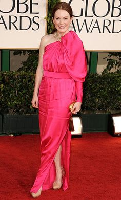 From Emma Stone to Kim Kardashian, See the Most Memorable Celebrity Lanvin Looks - Julianne Moore, 2011 - from InStyle.com