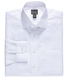 Traveler Collection Tailored Fit Spread Collar Mini Grid Dress Shirt -