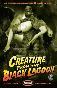 Creature From the Black Lagoon with Woman figure model kit. Horror Monsters, Black Lagoon, Women Figure, Character Modeling, Figure Model, Toy Soldiers, Classic Tv, Movie Characters, Plastic Models