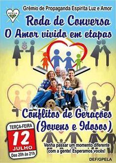 GPELA Convida para a Roda de Conversa O Amor vivido em etapas -  Bangu - RJ - http://www.agendaespiritabrasil.com.br/2016/07/12/25040/