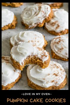 You know it's fall when you see iced pumpkin cookies on the menu! These pumpkin cake cookies are so SOFT and delicious and incredibly easy! // soft pumpkin cookies // pumpkin cookie mix // iced pumpkin cookies