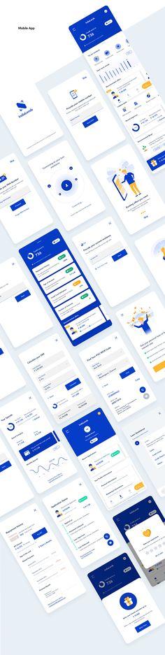 on Behance – Ramesh Guttula Fintech App Concept Rebranding & UI/UX Kit-Unofficial. on Behance Fintech App Concept Rebranding & UI/UX Kit-Unofficial. on Behance Android App Design, Ios App Design, Ui Design Tutorial, Design Tutorials, Web Design, Flat Design, Ui Design Mobile, Layout, Website Design Inspiration