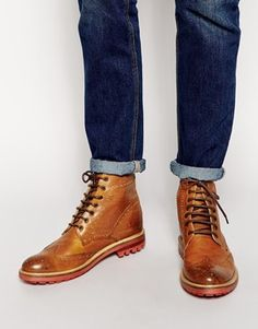 ASOS Brogue Boots in Leather *Men*