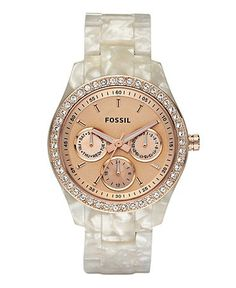 Fossil womens watch. Love the mother of pearl band! I don't like watches but this one is beautiful