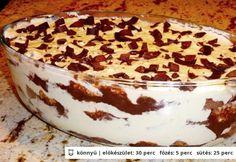Kókuszos-csokis rakott piskóta Hungarian Desserts, Hungarian Cake, Hungarian Recipes, Hungarian Food, Keto Holiday, Holiday Recipes, My Recipes, Cookie Recipes, Torte Cake