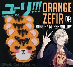 Recipe/Tutorial: Orange Zefir (Russian Marshmallows) inspired by Yuri!!! On Ice | Pretty Cake Machine