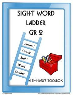 Sight Word Ladder Grade 2 by A Thinker's Toolbox #worksheet #printable #languagearts