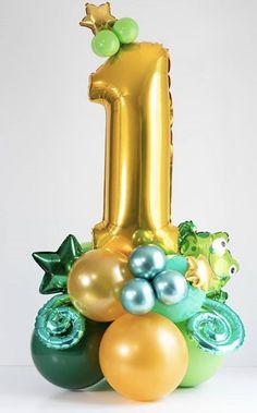 Balloon Display, Balloon Gift, Balloon Wall, Balloon Garland, Happy Balloons, Number Balloons, Birthday Balloon Decorations, Birthday Balloons, 1st Year Cake