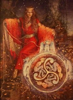 Arianrhod Arian meaning 'silver', and Rhod meaning 'wheel' or 'disc'. Celtic Moon-Mother Goddess. Called the Silver Wheel that Descends into the Sea. Daughter of the Mother Goddess Don and her consort Beli. She is ruler of Caer Sidi, a magical realm in the north. She was worshiped as priestess of the moon.