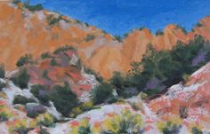 8.5X5.5 oil on paper. Cedar Canyon.