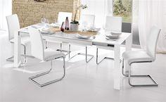 Tavolo Wood Vetro Bianco - Mondo Convenienza