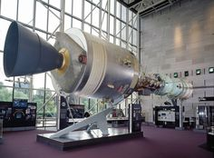 A recreation of the Apollo-Soyuz rendezvous on display in the Space Race gallery at the National Mall building.