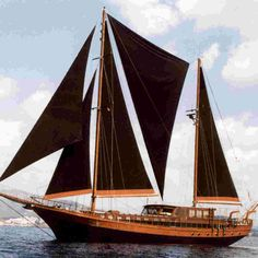 BELUGA    An elegant wooden sailing vessel from the past, brought glowingly back to life by Anouska Hempel, Beluga One is now one of the most beautiful boats on the Mediterranean.