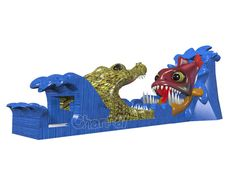 Our new design piranha vs gator inflatable slide takes sliding fun to next level. Kids will be impressed by this giant slide. Inflatable Slide, Bookends, Lion Sculpture, Statue, Fun, Kids, Young Children, Children, Kid