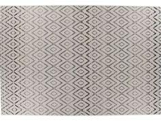 Tapis tissé plat motifs géométriques 160x230 cm DUNE coloris beige et gris - Vente de Tapis - Conforama