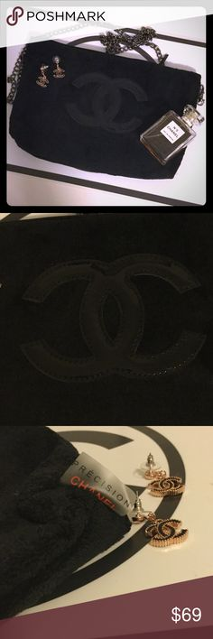 Chanel PRECISION Crossbody Clutch Brand new clutch from the Chanel PRECISION collection. Soft velour bag, features patent cc logo. Can be worn as Crossbody, chain hangs long. Chanel is removable! Measures approx 11 x  7.5 in. Gorgeous bag! Zipper opening with a cc zipper pull. CHANEL Accessories Scarves & Wraps