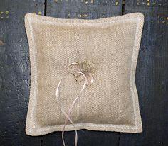 Weddings Linen Ring Bearer Pillow 9x9 inches size  $12.00