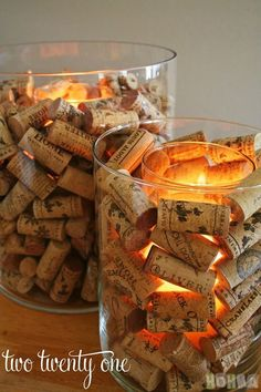 Candlestick for your home from wine cork