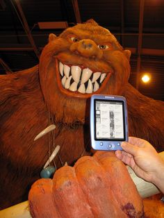 "The Cybook Parade ""Win a cover"" contest continues! And leading the parade in July is another scary monster! This time it's a troll, at the 2010 Paris Book Fair. Thanks Frédéric O. for sending it to us!"