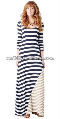 #Ladies newest design long sleeve striped maxi dress, #flowing maxi dress, #cotton maxi dress