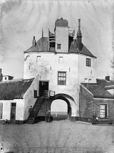Harderwijk Vischpoort 1907 glasnegatief