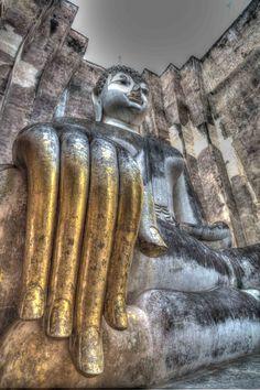 Buddha's Hand, Wat Srichum, Sukothai, Thailand