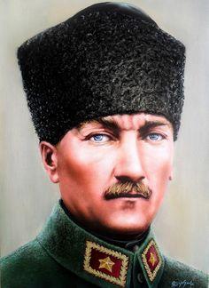 Yağlıboya Atatürk Portresi , Ressam Rukiye Garip