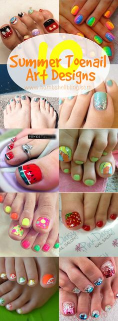 10 Ideas for Summer Toenail Art - Can't wait to do some of these!!