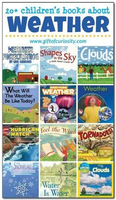 Science News Articles: books about the weather for kids - Gift of Cur. Weather For Kids, Weather Activities For Kids, Teaching Weather, Preschool Weather, Weather Unit, Weather And Climate, Book Activities, Weather Book, Weather Watch