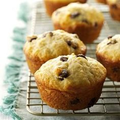 Sour Cream Chip Muffins Recipe -Take one bite and you'll see why I think these rich, tender muffins are the best I've ever tasted. Mint chocolate chips make them a big hit with my family and friends. —Stephanie Moon, Boise, Idaho