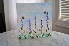 Lavender Painting Oil on Canvas Palette Knife Painting Palette Knife Painting, Texture Painting, Cottage Homes, Oil On Canvas, Lavender, Etsy Shop, Floral, Handmade, Paintings