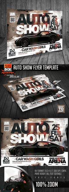 Auto Show Flyer Template  — PSD Template #exhibition #8.3x11.7 • Download ➝ https://graphicriver.net/item/auto-show-flyer-template/18518856?ref=pxcr