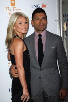 """Kelly Ripa and Mark Consuelos met on the set of """"All My Children"""" and eloped in 1996 They have 3 children"""