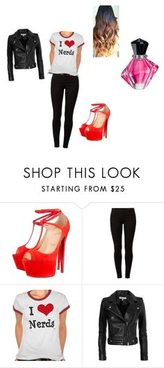 """Untitled #178"" by demonqueen1234 ❤ liked on Polyvore featuring Christian Louboutin, Dorothy Perkins and IRO"