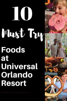 """The 10 """"Must Try"""" Foods at Universal Orlando Park. Check out the most delicious foodie items Universal Studios has to offer on your next trip to Orlando, Florida"""