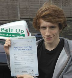 Haydn Suffern passed FIRST TIME! He started his lessons with Elaine but concluded his lessons with Paul. Well Done!!!