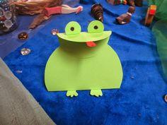 Frosch basteln aus Papier - Anleitung und Download der Vorlage